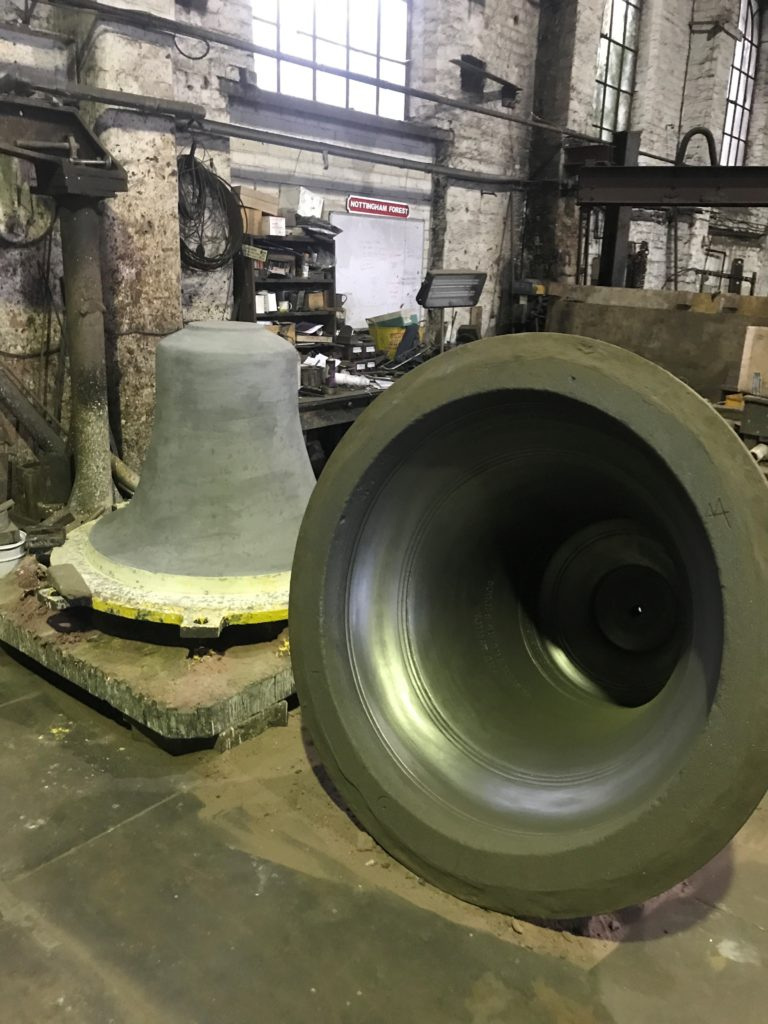 The bell casting process